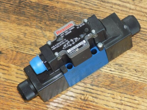REXROTH R901183993 Hydraulic Control Valve 4WE 6 E62/EW110N9DK25L/ZV/62=AN