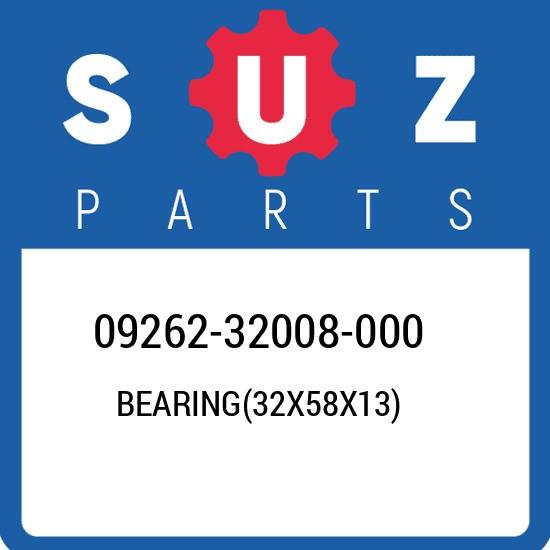 09262-32008-000 Suzuki Bearing(32x58x13) 0926232008000, New Genuine OEM Part