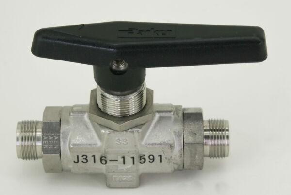 11591 PARKER TWO WAY B-SERIES BALL VALVE 8Z(A)-B8LJ2-SSP-C3