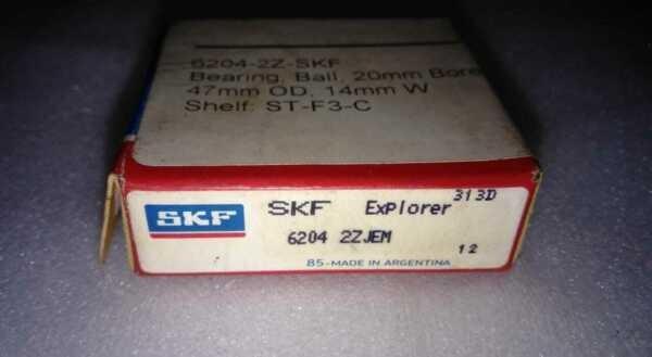 SKF 6204 ZZ JEM Double Sealed Deep Groove Ball Bearing 20x47x14mm Argentina