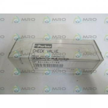 PARKER CHECK VALVE 8Z-C6L-1-SS *NEW IN BOX*