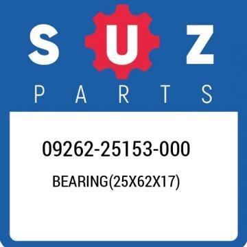 09262-25153-000 Suzuki Bearing(25x62x17) 0926225153000, New Genuine OEM Part