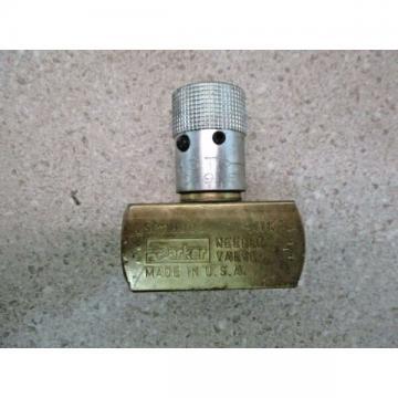 """PARKER SPN800B 1/2"""" BRASS NEEDLE VALVE, 2000 PSI, #131940J NEW"""